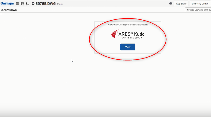 ARES Kudo as a viewer for DWG files in Onshape