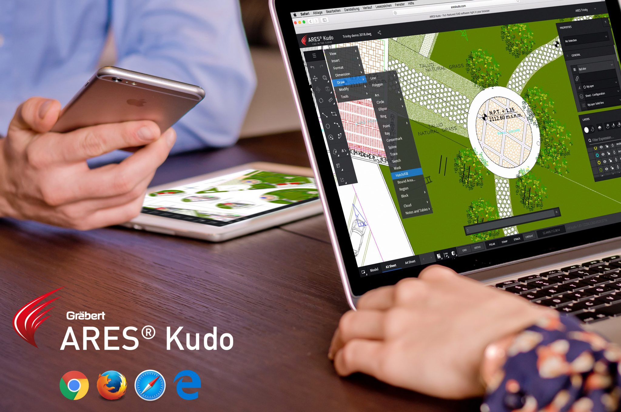ARES Kudo Online DWG Editing