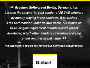 'Graebert Software of Berlin, Germany, has become the second-largest vendor of 2D CAD software by mostly staying in the shadows. It publishes Ares Commander under its own name, but is also an OEM (original equipment manufacturer) kernel developer, which other vendors customize and ship under another brand name.' The Wide World of DWG Compatible CAD Software, Cadalyst.com