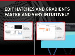Edit Hatches and Gradients with ARES CAD Software