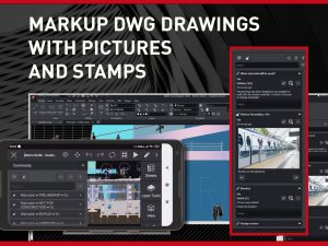 Markup DWG Drawings With Pictures and Stamps