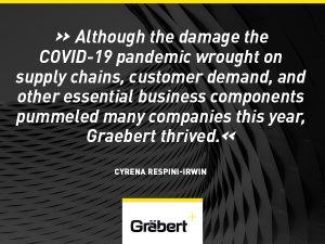 Although the damage the COVID-19 pandemic wrought on supply chains, customer demand, and other essential business components pummeled many companies this year, Graebert thrived.