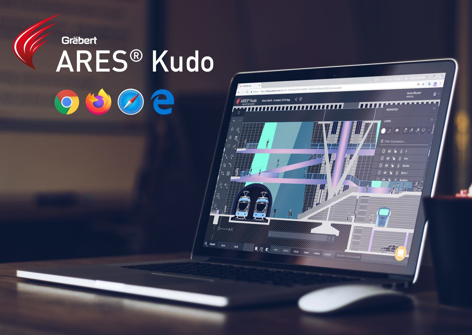 ARES Kudo is ideal to create or modify DWG drawings in home office.